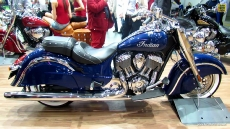 2014 Indian Chief Classic (Blue Colour) at 2013 EICMA Milan Motorcycle Exhibition