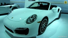 2014 Porsche 911 Turbo S Convertible at 2013 Los Angeles Auto Show